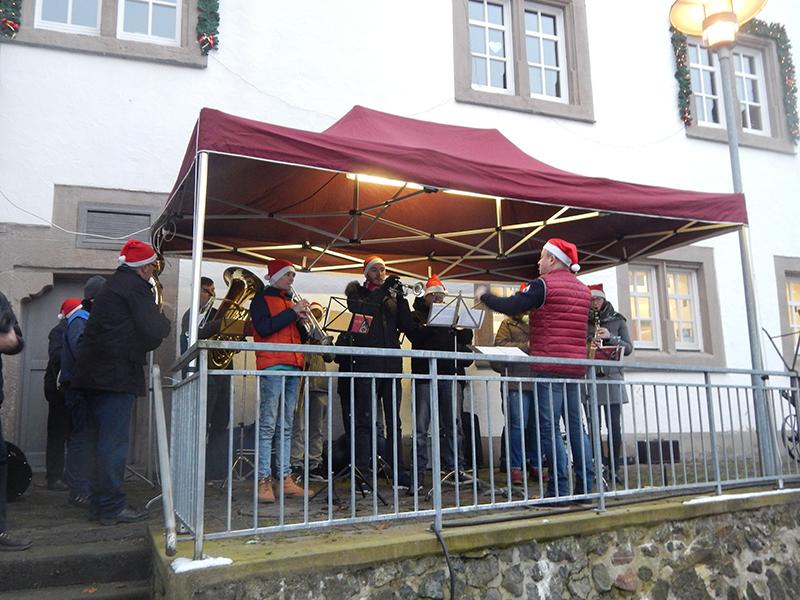 Musikverein Haselstein unter der Leitung von Werner Dittmar