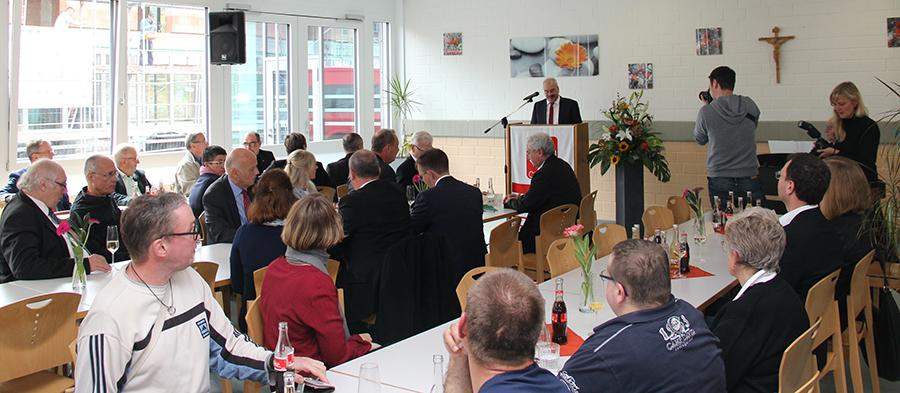 Der Festakt fand in den Räumen der Caritas-Werkstatt St.-Vinzenz-Straße statt.