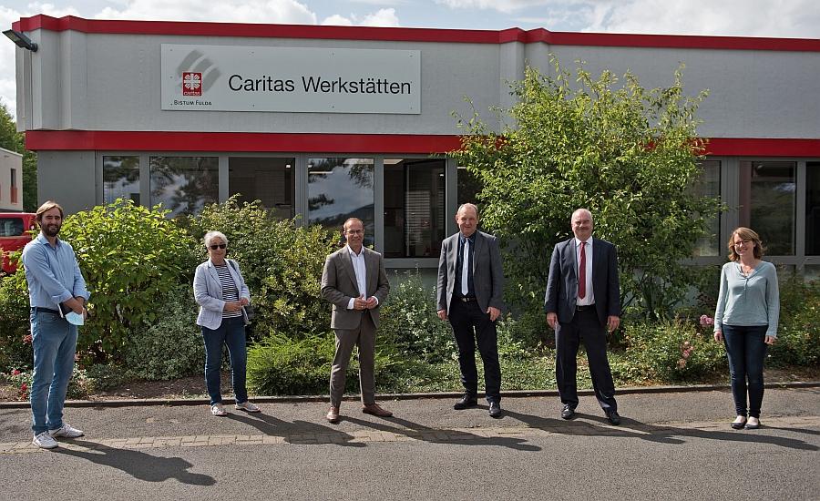 Landtagsabgeordneter Lenders besuchte Caritas-Werkstatt